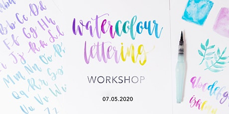 Watercolour Brush Lettering Workshop tickets