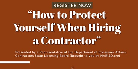 """How To Protect Yourself When Hiring a Contractor"" tickets"