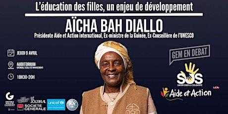 Conférence d'Aicha Bah Diallo à GEM billets