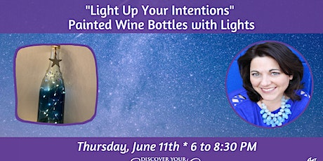 """ARTShop - """"Light Up Your Intentions"""" Painted Wine Bottles tickets"""