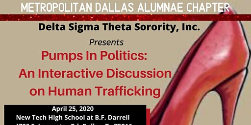 Pumps in Politics:  An Interactive Discussion on Human Trafficking