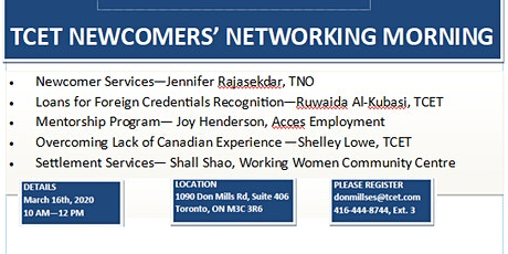 Newcomers' Networking Morning tickets