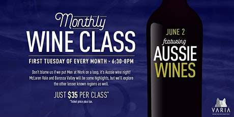 Wine Class at Varia: Aussie Wines tickets