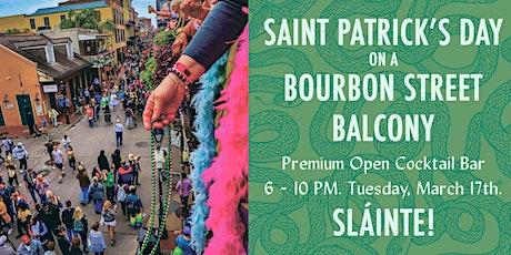 Saint Patrick's Day on a Bourbon Street Balcony tickets