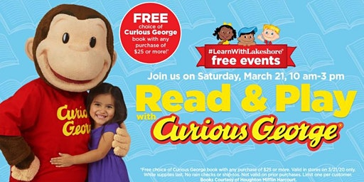 Lakeshore Special Event: Read & Play with Curious George (McAllen)