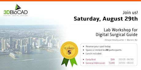 3DBioCAD's - Lab Workshop for Digital Surgical Guide tickets