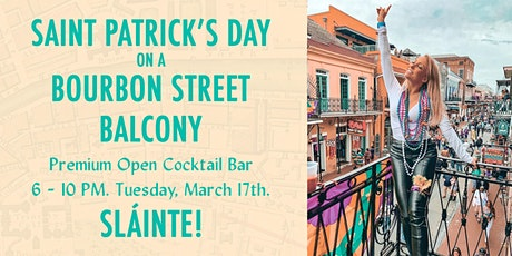 Saint Paddy's Day on a Bourbon Street Balcony tickets