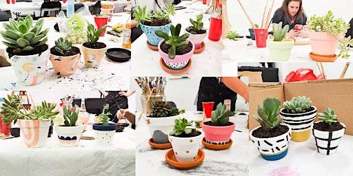 Succulents & Pot Painting (Orange)