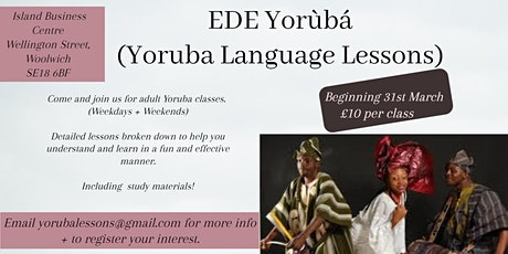 Weekly Yoruba Lesson Classes tickets