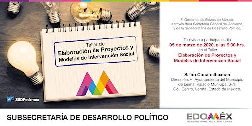 TALLER DE ELABORACIÓN DE PROYECTOS Y MODELOS DE INTERVENCIÓN SOCIAL