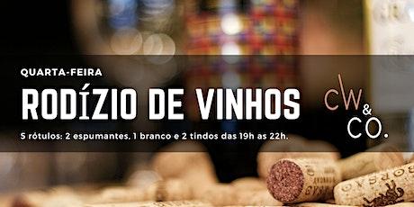 04/03 (quarta-feira) Rodízio de Vinhos & Espumantes + Andresa Souza e Trio ingressos