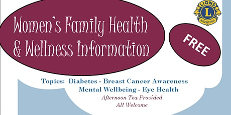 Women's Family Health & Wellbeing Information tickets