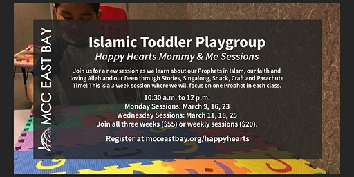 Islamic Toddler Playgroup | Happy Hearts Mommy & Me Sessions (March)
