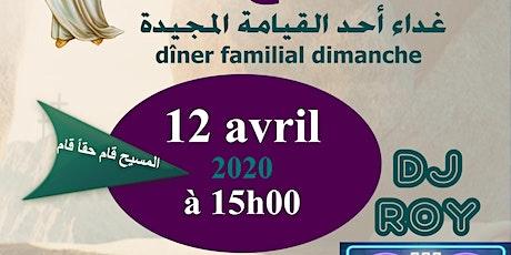 ÉVÉNEMENT REMIS DATE À CONFIRMER - Dîner de Pâques - Dimanche 12 avril 2020 billets