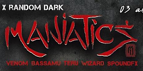 Rock on the Rock invites ~ Random Dark & DMT pres. Maniatics tickets