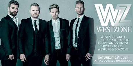 Westzone - A tribute to Boyzone & Westlife  - Including 3 course dinner tickets