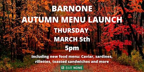 BarNone Seasonal Menu Launch - Autumn 2020 tickets