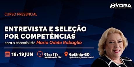 Curso Presencial: Entrevista e Seleção por Competências ingressos