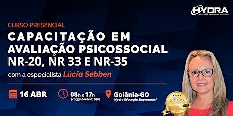 Curso Presencial: Capacitação em Avaliação Psicossocial:NR-20, NR-33, NR-35 ingressos