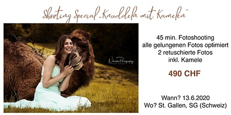 "Shooting ""Knuddeln mit Kamelen"" tickets"