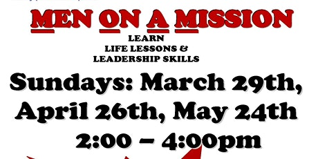GACCS MEN ON A MISSION - BOYS 5 - 17  GROUP MENTORING PROGRAM SESSIONS tickets