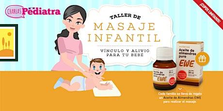 Taller de MASAJE INFANTIL 0-12 meses ONLINE o PRESENCIAL entradas