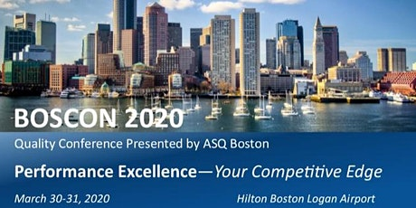 RESCHEDULED- ASQ BOSCON 2020 Quality Conference tickets