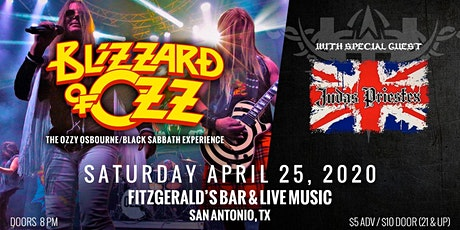 Blizzard of Ozz & Judas Priestex at Fitzgerald's Bar & Live Music tickets