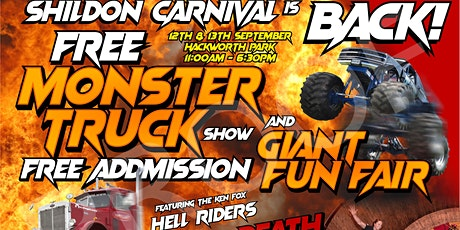 Shildon Carnival 2020 with FREE Monster Truck show for all the family & FREE Entry  tickets