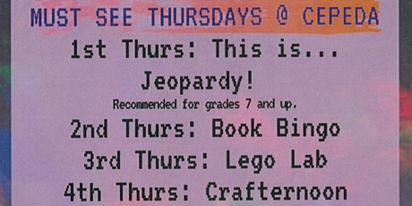 Book Bingo (Must See Thursdays @ Cepeda) tickets