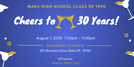Mars High School 30th Year Reunion tickets