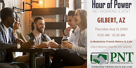08/13/20 - PNT Gilbert - Hour of Power Networking Event tickets