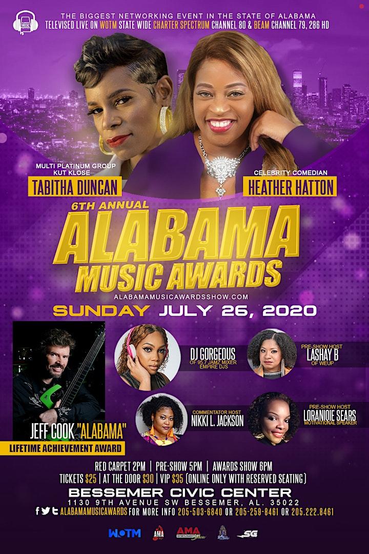 6th Annual Alabama Music Awards image