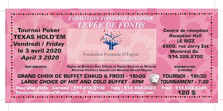 Levée de Fonds «Tournoi Texas Hold'em Tournament» Fundraiser billets
