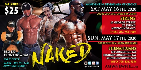 Naked Newfoundland AMWEvents.com & DMOC tickets