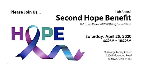 11th Annual Second Hope Benefit tickets