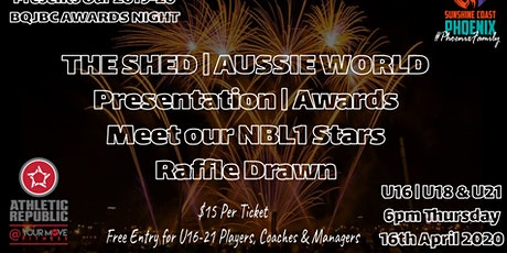 SUNSHINE COAST PHOENIX 2019-20 U16 | U18 & U21'S BQJBC AWARDS NIGHT tickets