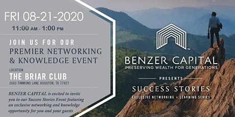Benzer Capital  Success Stories - State of Real Estate Investment tickets