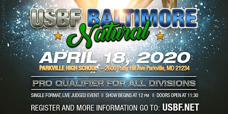 2020 USBF Baltimore Natural Bodybuilding Classic tickets