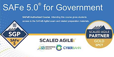 Online Instructor Led - SAFe 5.0 for Government (SGP) - EST Timezone Tickets