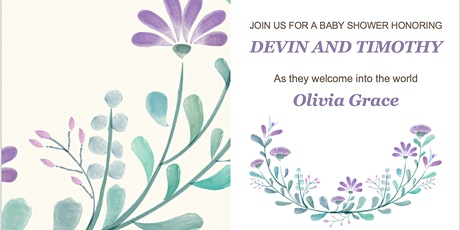 It's a Girl! Please join us for a baby shower for Devin and Timothy! tickets