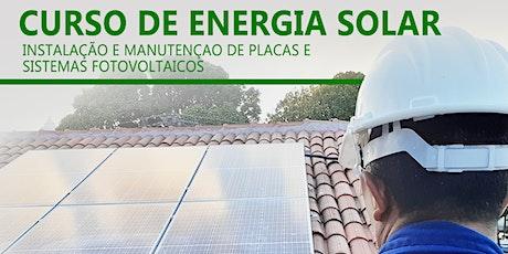 Curso Energia Solar - Instalação e Manutenção (05/10/2020 à 08/10/2020) ingressos