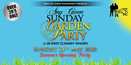 AGS Garden Party - Bank Holiday Sunday 24th May 2020 tickets