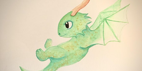 Kids Intro to Watercolour (Paint a Dragon) tickets