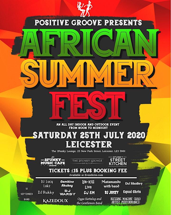 African Summer-fest. Indoor, outdoor performances and dj festival. . image