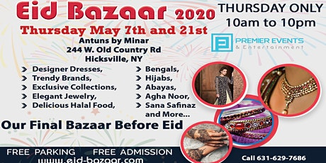 Long Island Eid Bazaar at Antuns by Minar tickets