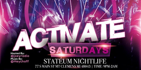 ACTIVATE SATURDAYS tickets