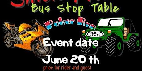 Bus Stop Table Poker Run tickets