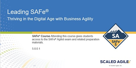 Leading SAFe (5.0) - Certified Scaled Agile Framework Training Istanbul tickets