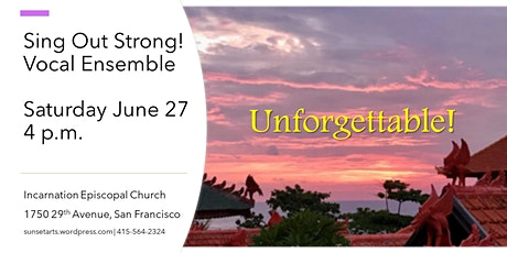 Unforgettable! Sing Out Strong Vocal Ensemble tickets